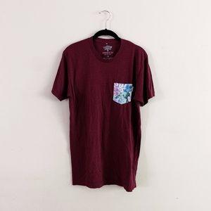 Serengetee Floral Patch T Shirt Mens